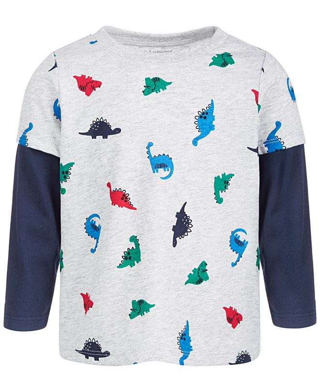 First Impressions Baby Boys Dino-Print T-Shirt, Create for Macy's