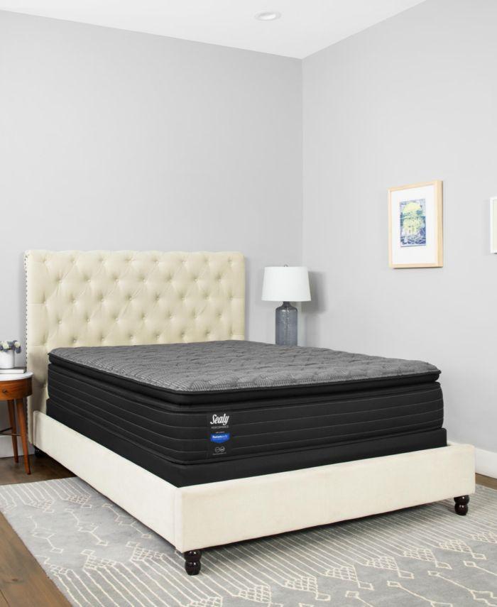 "Sealy Premium Posturepedic Beech St 13.5"" Plush Euro Pillowtop Mattress- Twin XL & Reviews - Mattresses - Macy's"