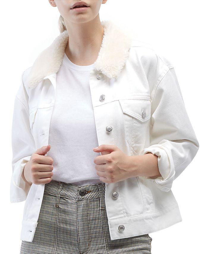 OAT - Sherpa-Collar Denim Jacket