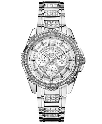 guess s accent stainless steel