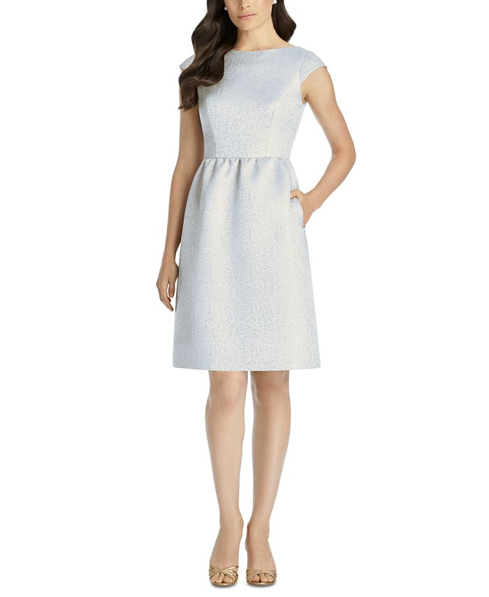 Dessy Collection - Boat-Neck A-Line Dress