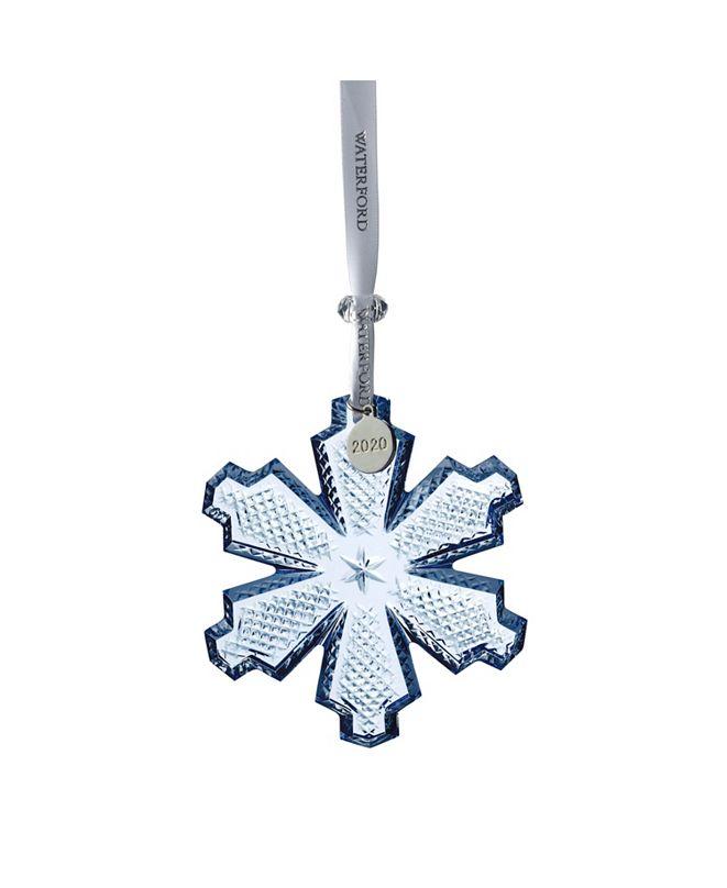 "Waterford Snowcrystal Ornament 3.7"" Topaz Ice"