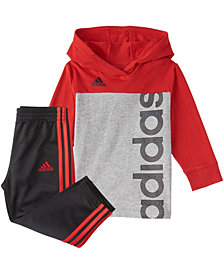 Adidas Baby Boys Long Sleeve Colorblock Hooded Tee Set