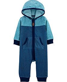 Carter's Baby Boy  Zip-Up Fleece Jumpsuit