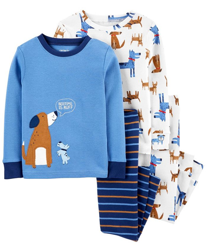 Carter's - Baby Boy  4-Piece Dog Snug Fit Cotton PJs