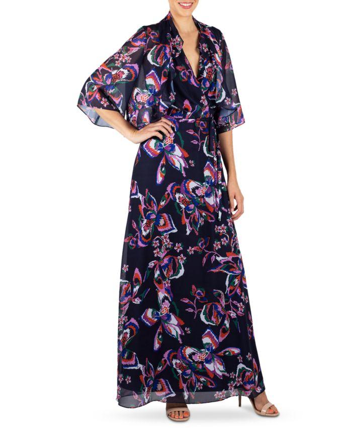 Donna Ricco Halter Maxi Dress & Shrug Jacket & Reviews - Dresses - Women - Macy's