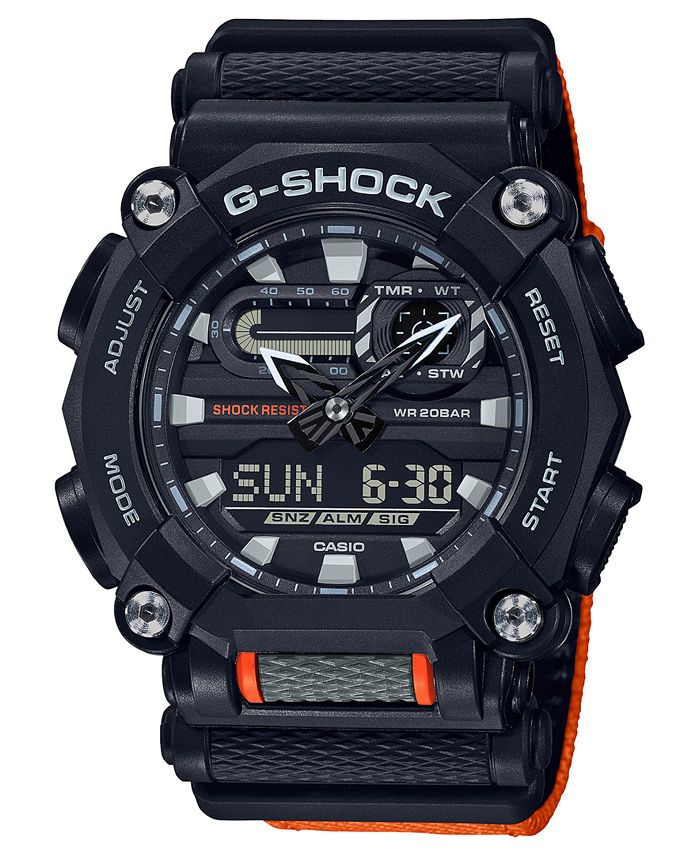 G-Shock - Men's Analog-Digital Black Resin Strap Watch 49.5mm