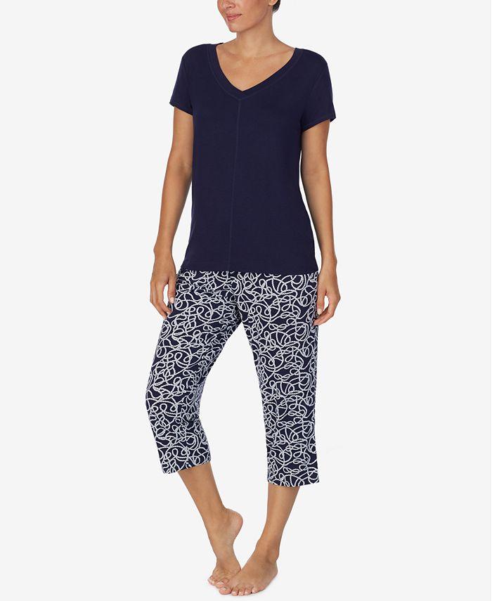 Nautica - Women's 2-Pc. T-Shirt & Capris Pajama Set