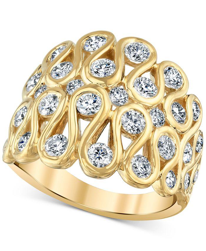 Macy's - Diamond Loop Statement Ring (1-3/4 ct. t.w.) in 14k Gold