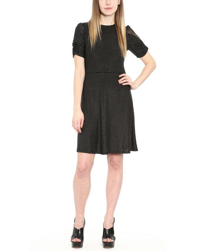 Michael Kors - Metallic Dot-Print Mini Dress, Regular & Petite