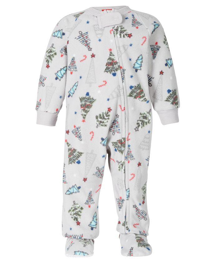 Family Pajamas - Baby Holiday Tree Footed 1-Pc. Pajama