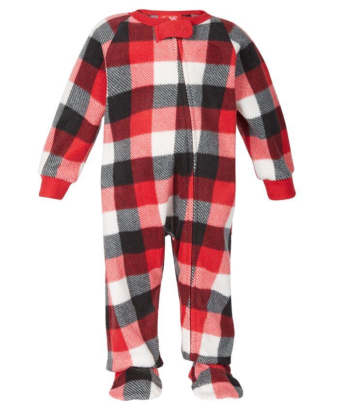 Family Pajamas - Baby Buffalo Check Footed 1-Pc. Pajama