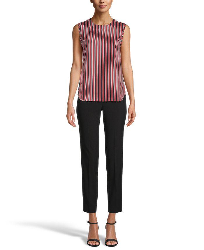 Anne Klein - Striped Sleeveless Top