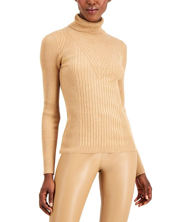 INC International Concepts INC Ribbed Turtleneck Sweater, Created for Macy's