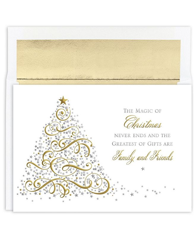 Masterpiece Studios Masterpiece Cards Magic Holiday Boxed Cards, 16 Cards and 16 Envelopes