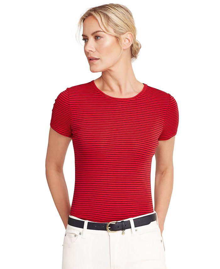 Lauren Ralph Lauren - Striped Cotton-Blend T-Shirt