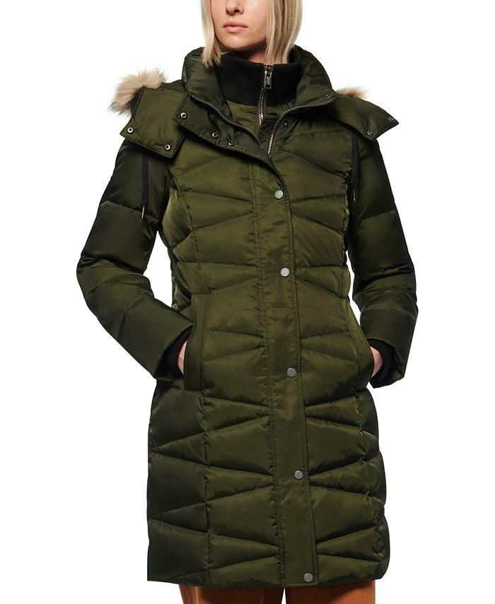 Marc New York - Faux-Fur-Trim Hooded Down Puffer Coat