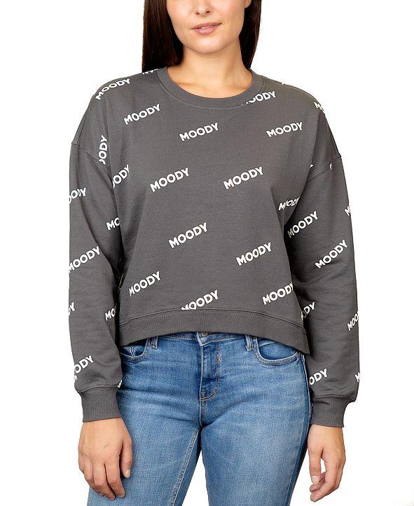 Rebellious One Juniors' Moody Graphic Sweatshirt