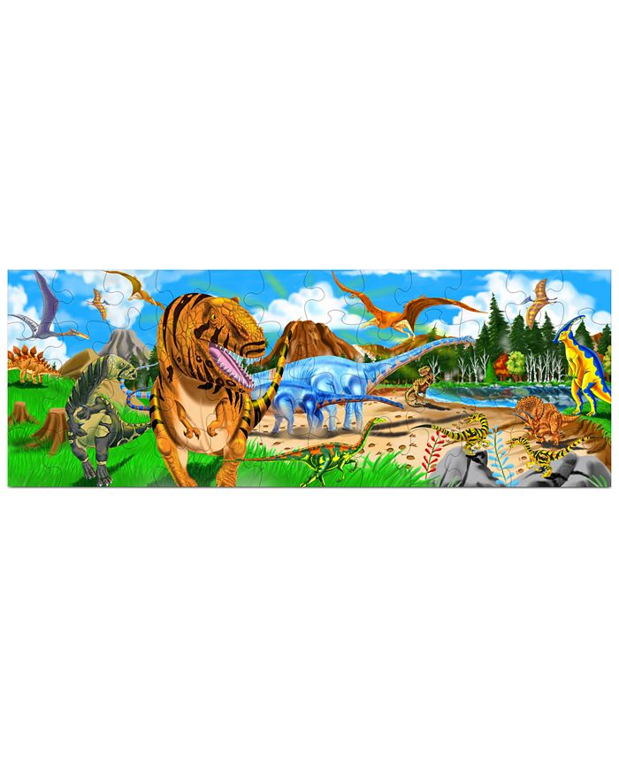 Melissa and Doug - Kids Toy, Land of Dinosaurs 48-Piece Floor Puzzle