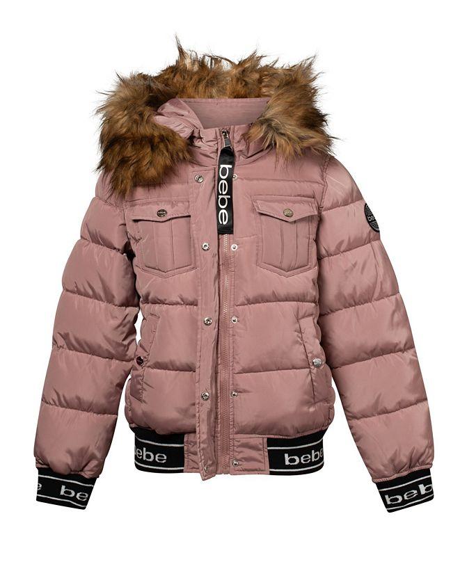 bebe Women's Rib Logo Bottom Puffer Jacket (37% Off) -- Comparable Value $79
