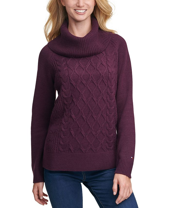 Tommy Hilfiger - Cable-Knit Cowl-Neck Sweater