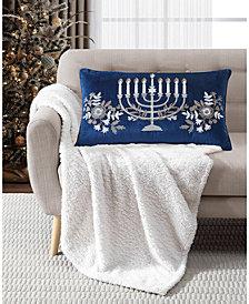 """Lacourte 14"""" x 24"""" Menorah Decorative Pillow"""