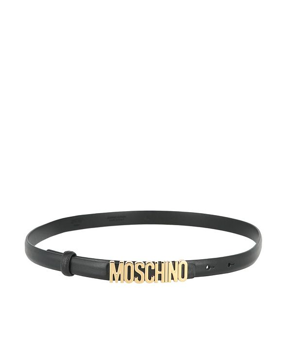 Moschino Women's Leather Logo Thin Belt (40% Off) -- Comparable Value $250