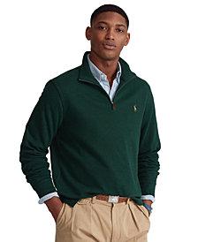 Polo Ralph Lauren Men's Big & Tall Estate-Rib Quarter-Zip Pullover