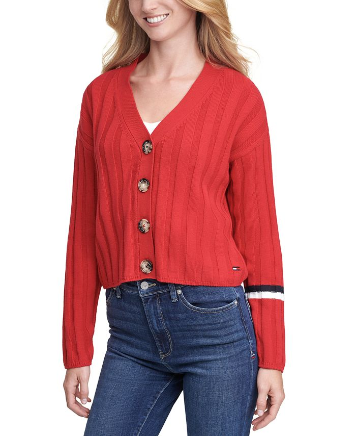 Tommy Jeans - Cropped Textured Cardigan