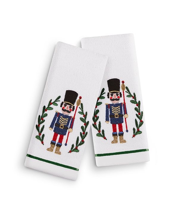"Martha Stewart Collection Nutcracker 2-Pc. 11"" x 18"" Fingertip Towel Set, Created for Macy's"