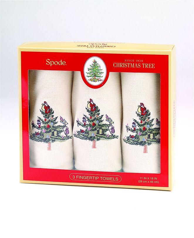 Spode Christmas Trees Fingertip Box, Set Of 3