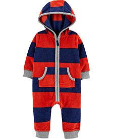 Carter's Baby Boy Raccoon Zip-Up Fleece Jumpsuit