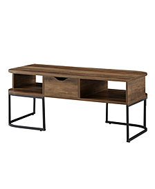 Walker Edison 1 Drawer Curved Coffee Table