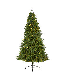 Nearly Natural New Hampshire Fir Artificial Christmas Tree with 450 Clear LED Lights