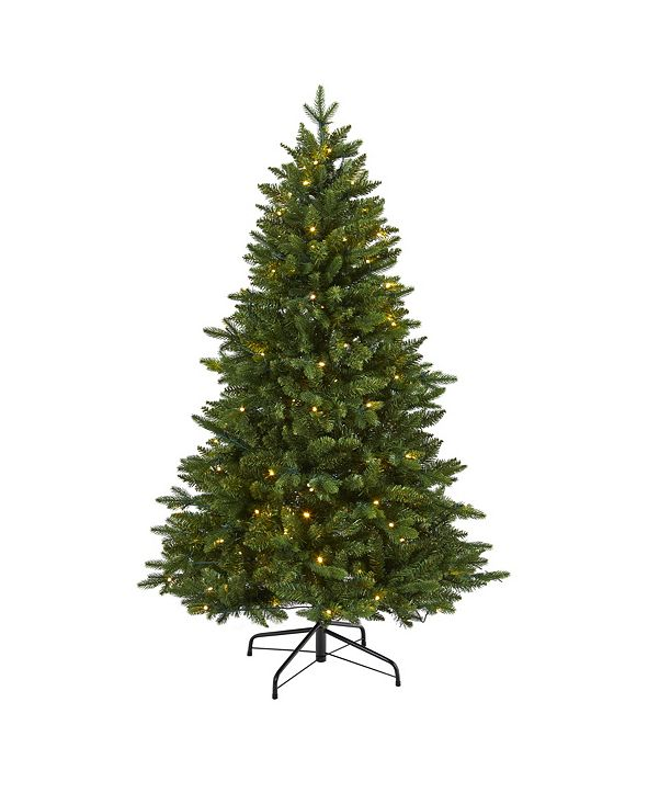 Nearly Natural New Hampshire Fir Artificial Christmas Tree with 150 LED Lights