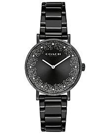 COACH Women's Perry Black-Tone Bracelet Watch 28mm