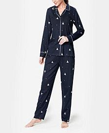 MOOD Pajamas Notch Collar Sleepy Dog Ultra Soft Women's Pajama Set