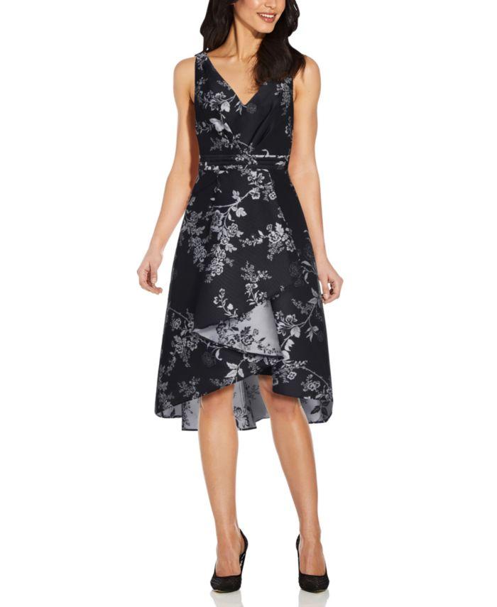Adrianna Papell High-Low Mikado Dress & Reviews - Dresses - Women - Macy's