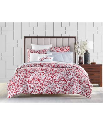 Garden Manor Cotton 300-Thread Count 2-Pc. Twin Duvet Cover Set, Created for Macy's