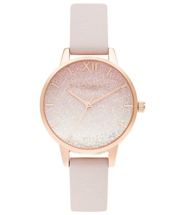 Olivia Burton Women's Under The Sea Pink Leather Strap Watch 30mm