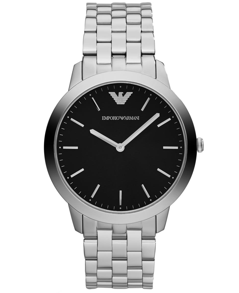 Emporio Armani Watch, Mens Dino Slim Stainless Steel Bracelet 42mm AR1744   Watches   Jewelry & Watches