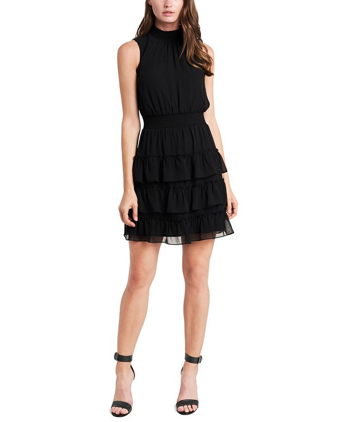 MSK - Smocked Tiered Fit & Flare Dress