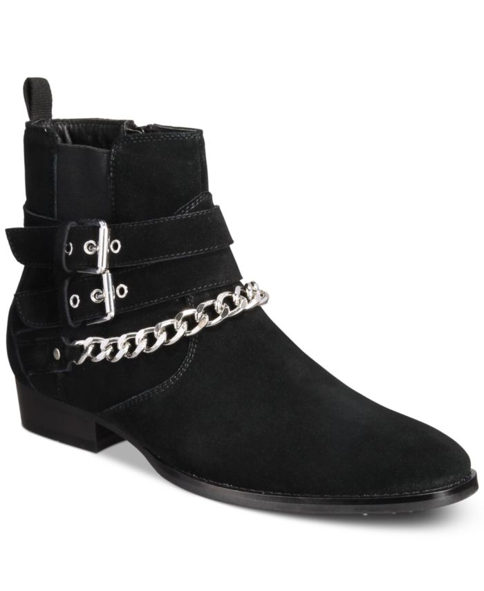 INC International Concepts INC Dusty Buckle-Chain Boots, Created for Macy's & Reviews - All Men's Shoes - Men - Macy's