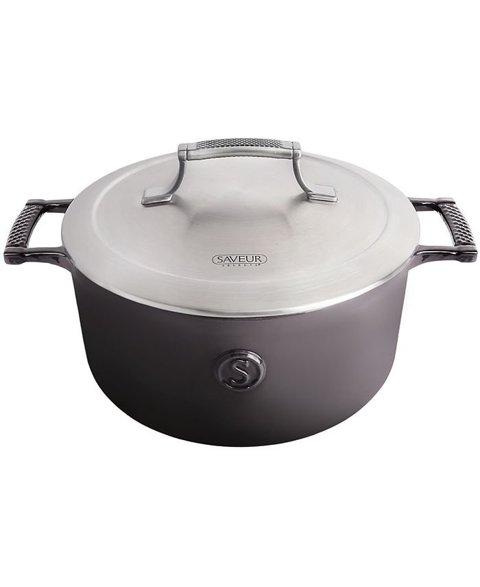 Saveur - Selects 5-Qt. Cast Iron Casserole with Stainless Steel Lid