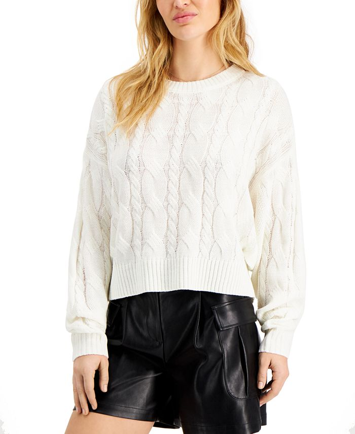 Hooked Up by IOT - Juniors' Cable-Knit Sweater
