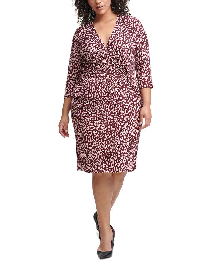 Jessica Howard - Plus Size Side-Twist Dress