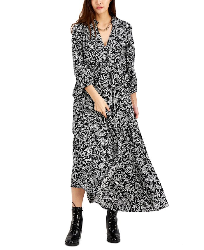 Inc International Concepts Inc Printed Puff Sleeve Maxi Dress Created For Macy S Reviews Dresses Women Macy S