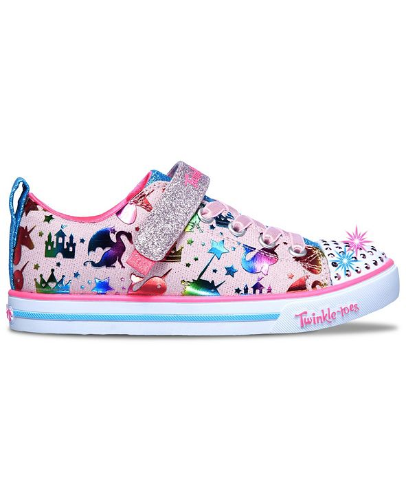 Skechers Little Girls Twinkle Toes Sparkle Lite Princessland Casual Sneakers from Finish Line