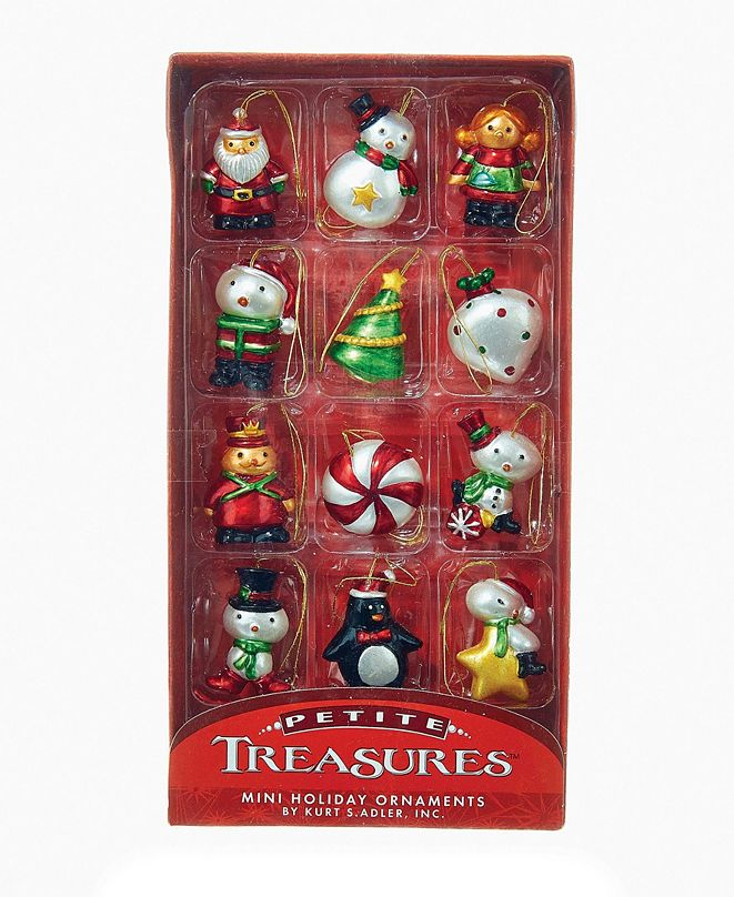 Kurt Adler Mini Ornament Set of 12