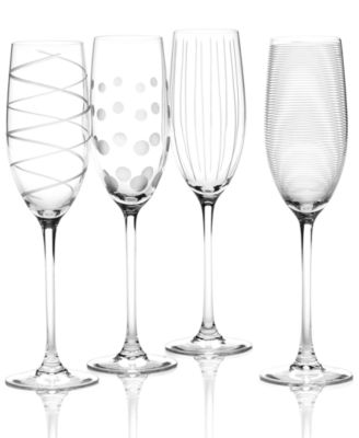 """""""Clear Cheers"""" Flutes, Set Of 4"""